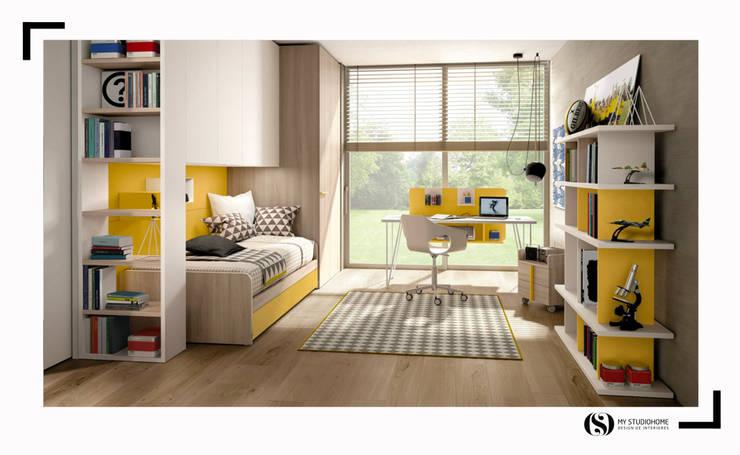 Quarto Zalf: Quartos de adolescente  por MyStudiohome - Design de Interiores