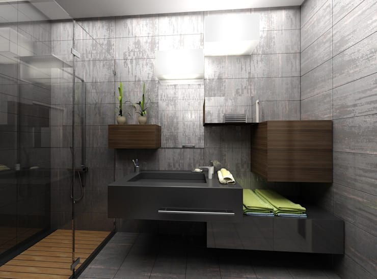 Gökhan BAYUR – VİLLA WOX:  tarz Banyo