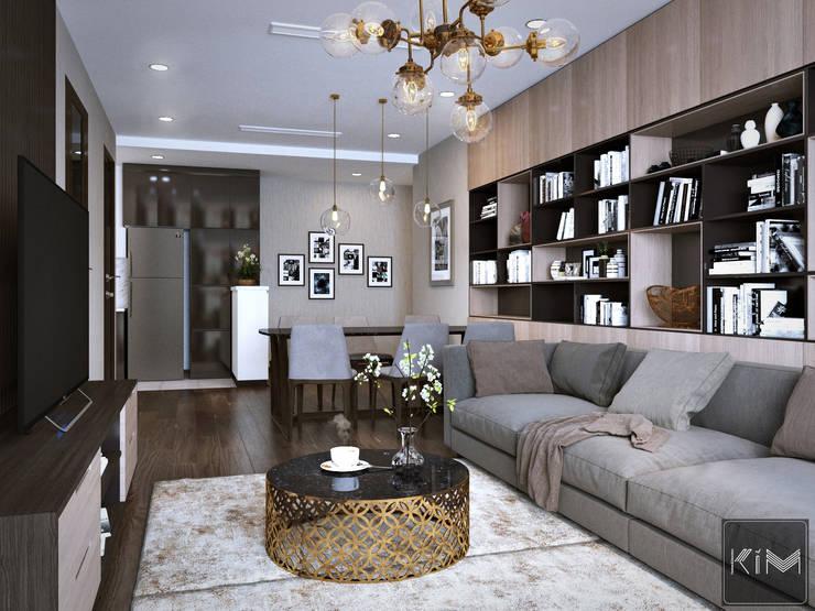 Dự án Five Star Garden:  Phòng khách by KIM - furniture
