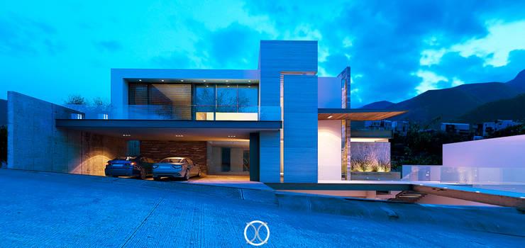 Fachada principal / noche: Casas de estilo  por Nova Arquitectura