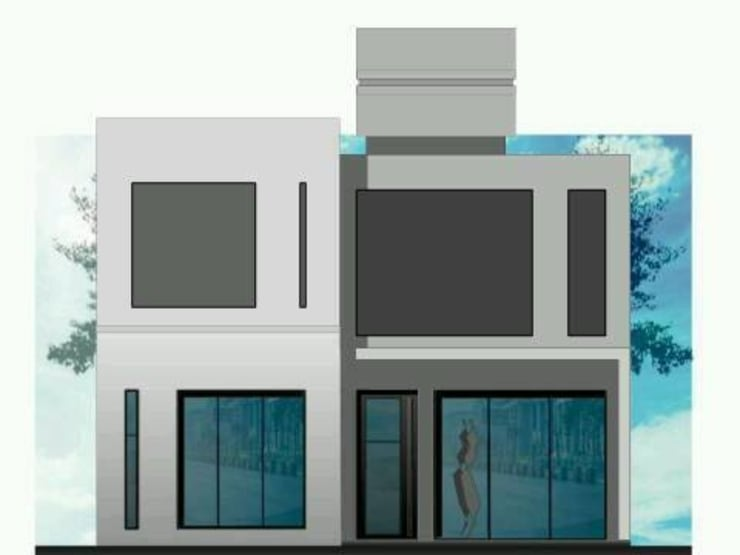 egonnet: Casas unifamiliares de estilo  por dc estudio,Minimalista Hormigón