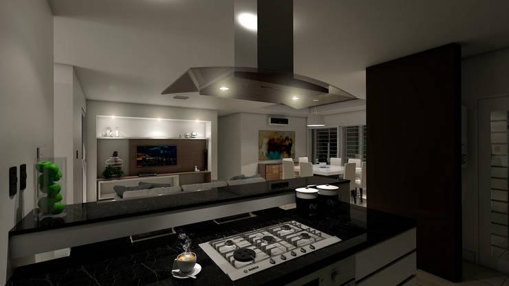 Casa CL –  RESIDENCIA DE FIN DE SEMANA: Cocinas de estilo  por D'ODORICO OFICINA DE ARQUITECTURA