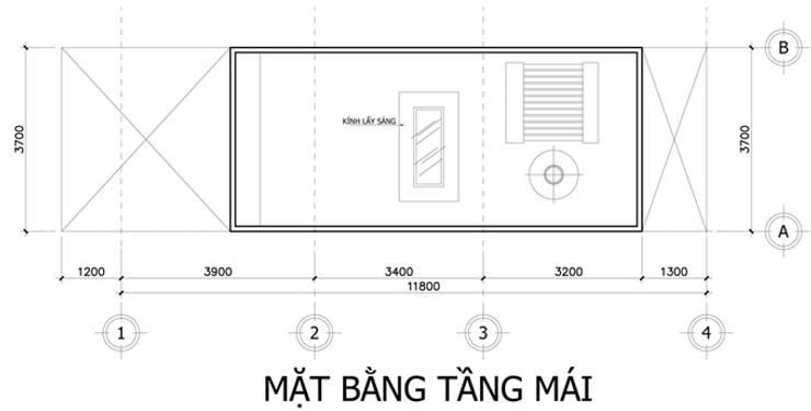 Nhà Ống 3 Tầng 52m2 Thiết Kế Đơn Giản Với Chi Phí 800 Triệu:  Mái by Công ty TNHH Xây Dựng TM – DV Song Phát