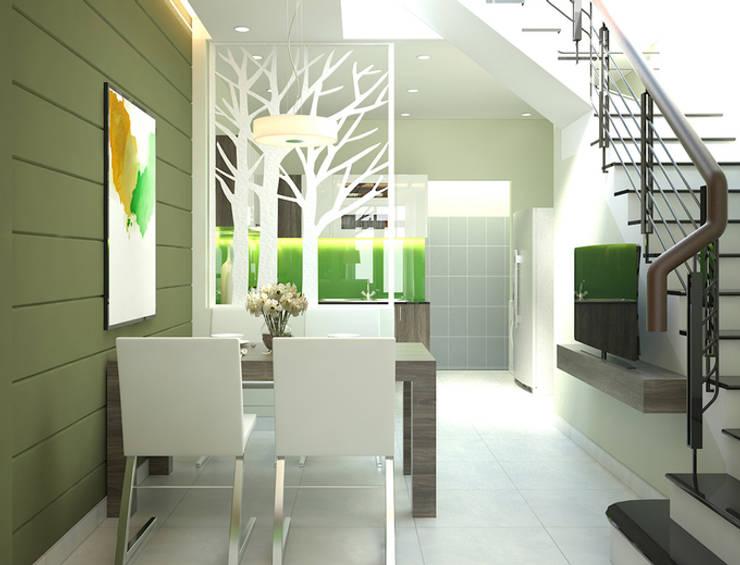 Nhà Ống 3 Tầng 52m2 Thiết Kế Đơn Giản Với Chi Phí 800 Triệu:  Phòng ăn by Công ty TNHH Xây Dựng TM – DV Song Phát