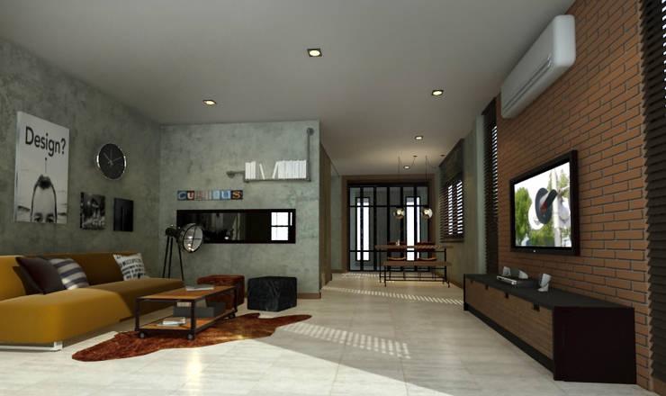 รีโนเวทบ้านเก่า ในสไตล์LOFT:   by dsibox