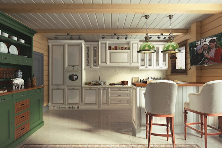 Cocinas de estilo  por Diveev_studio#ZI