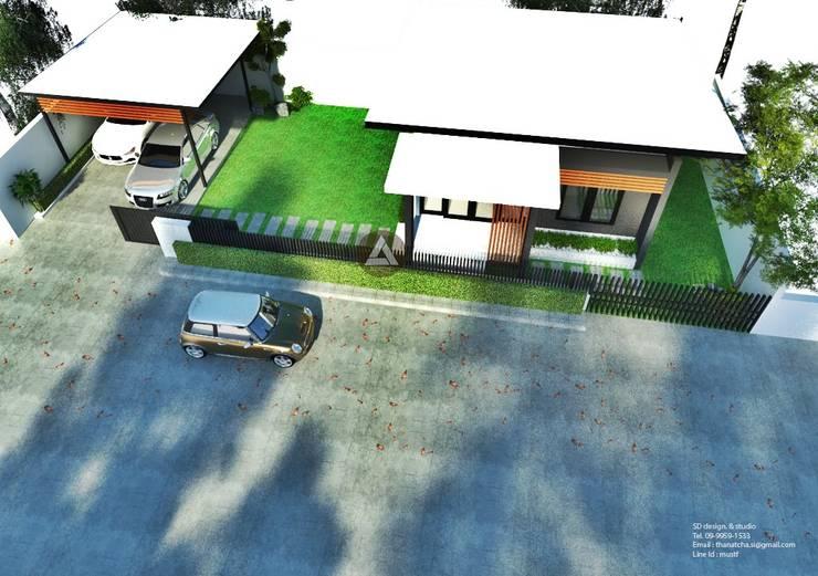 ออกแบบบ้าน modern style:   by SD DESIGN&STUDIO