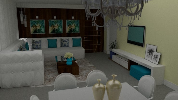 Living room by STUDIO SPECIALE - ARQUITETURA & INTERIORES