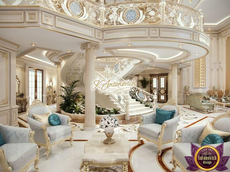 Best House designs by Katrina Antonovich:  Corridor & hallway by Luxury Antonovich Design