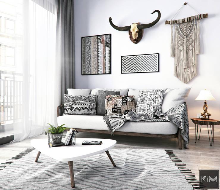 Dự án Vinhomes Gardenia:  Phòng khách by KIM - furniture