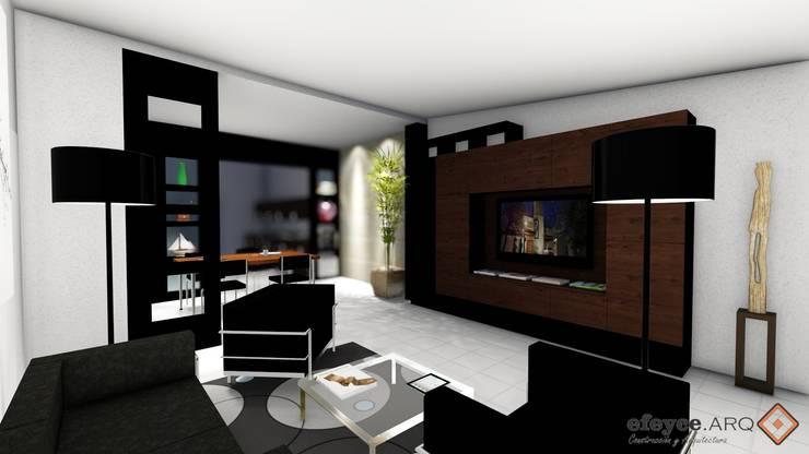 Projekty,  Salon zaprojektowane przez efeyce, Nowoczesny