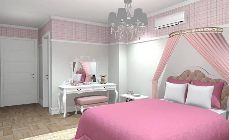 Chambre fille de style  par Studio Bertoluci, Classique