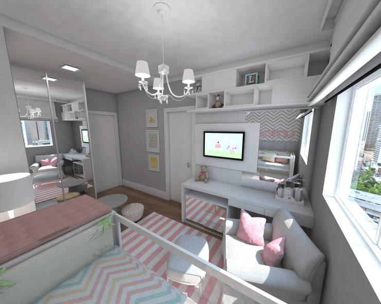 Apartamento RDM: Quartos de bebê  por Skala Arquitetura e Engenharia