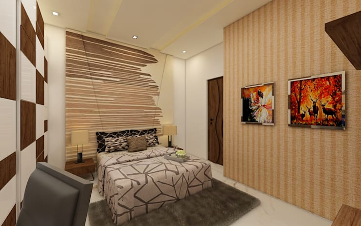 Bedroom: modern Bedroom by Regalias India Interiors & Infrastructure