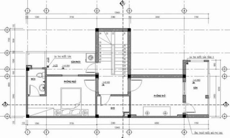 Bản vẽ nhà phố 3 tầng:  Nhà gia đình by Công ty TNHH Thiết Kế Xây Dựng Song Phát