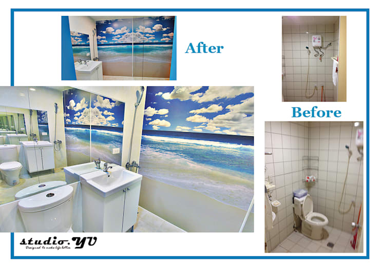 bathroom Mirror:   by YU SPACE DESIGN