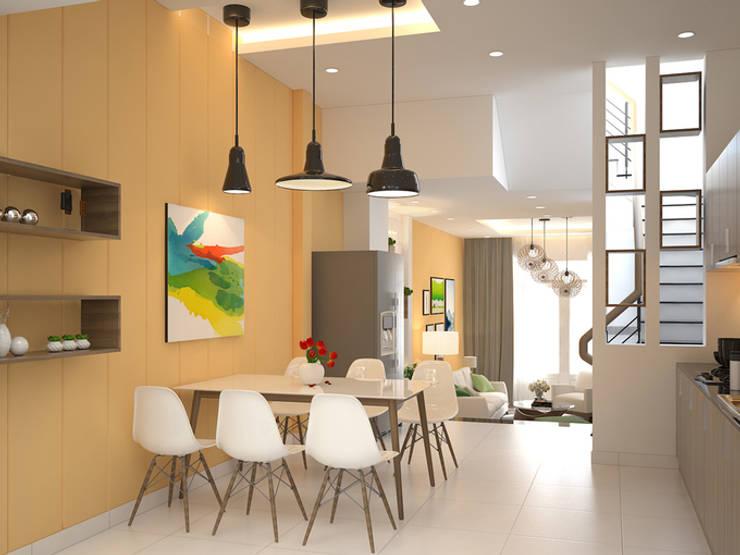Không gian phòng bếp thoáng mát:  Phòng ăn by Công ty TNHH Xây Dựng TM – DV Song Phát