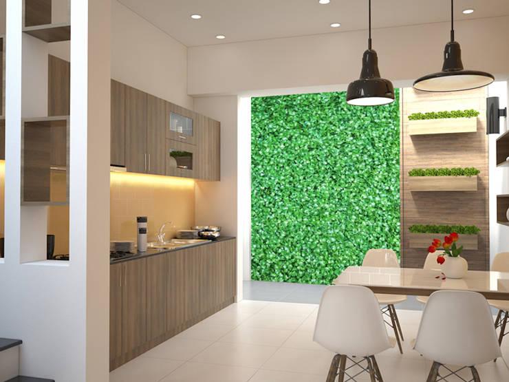 Không gian phòng bếp thoáng mát:  Tủ bếp by Công ty TNHH Xây Dựng TM – DV Song Phát