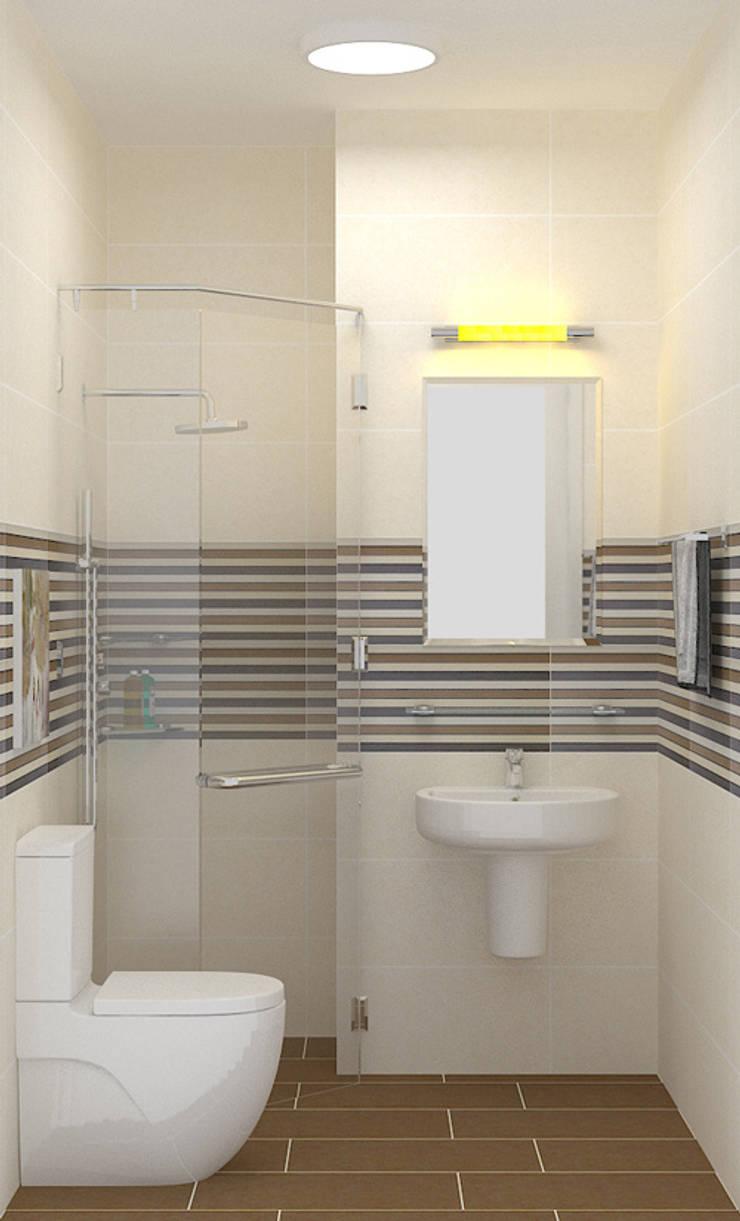 Nội thất phòng vệ sinh đơn giản nhưng tiện nghi:  Phòng tắm by Công ty TNHH Xây Dựng TM – DV Song Phát