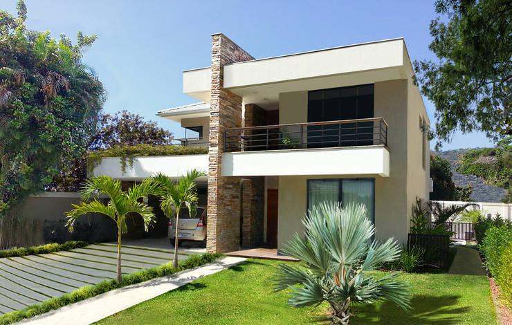 Casas de estilo moderno por Cláudio Maurício e Paulo Henrique
