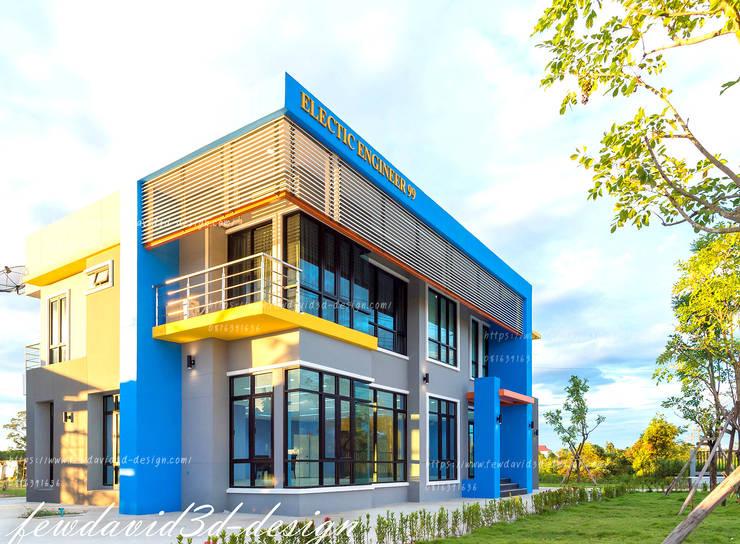 โฮมออฟฟิศ อ.บ้านค่าย จ.ระยอง บ.อิเลคทริค เอ็นจิเนียริ่ง99:  บ้านและที่อยู่อาศัย by fewdavid3d-design