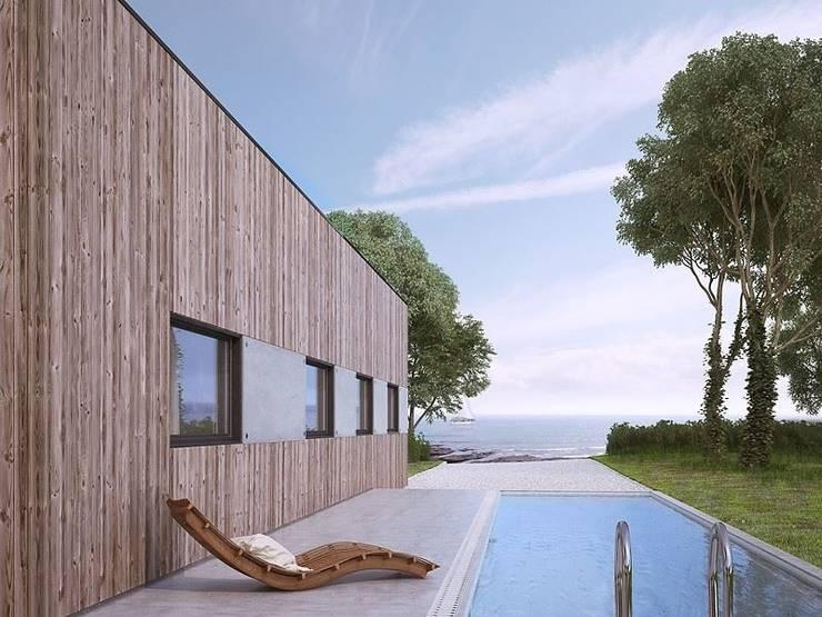 modern  by FHS Casas Prefabricadas, Modern