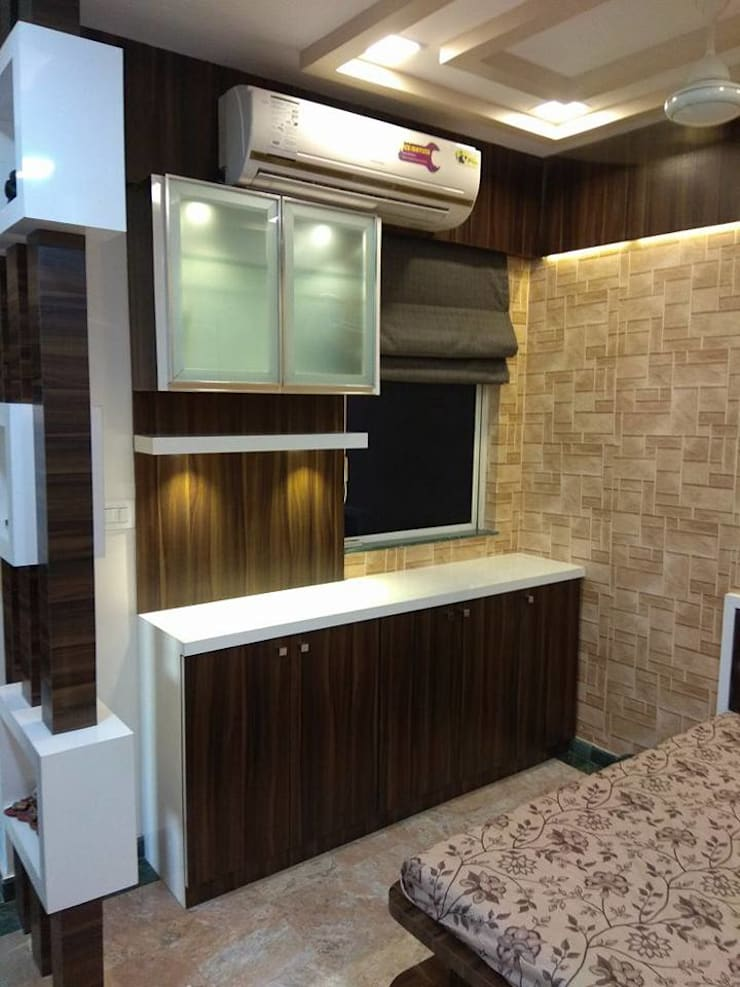 1bhk completed Project Hiranandani Estate:  Living room by KUMAR INTERIOR THANE