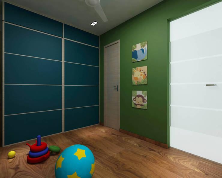 Borivali Residence:  Nursery/kid's room by Midas Dezign