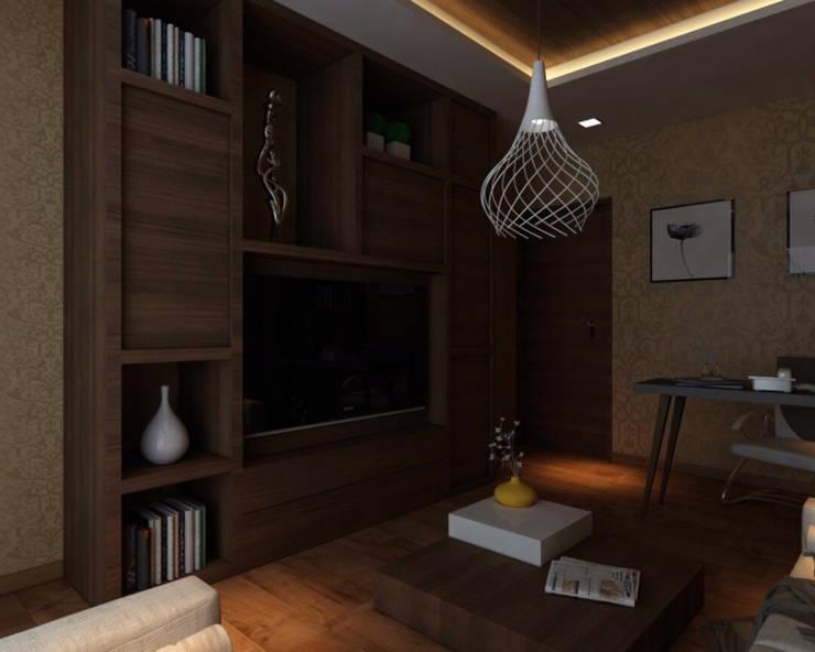 Ashish Rai Residence:  Media room by Midas Dezign,Asian
