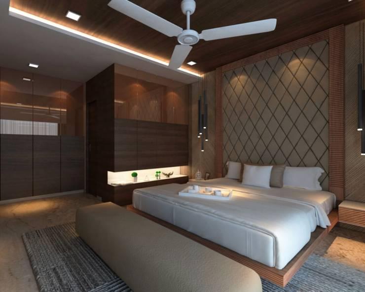 Ashish Rai Residence:  Bedroom by Midas Dezign