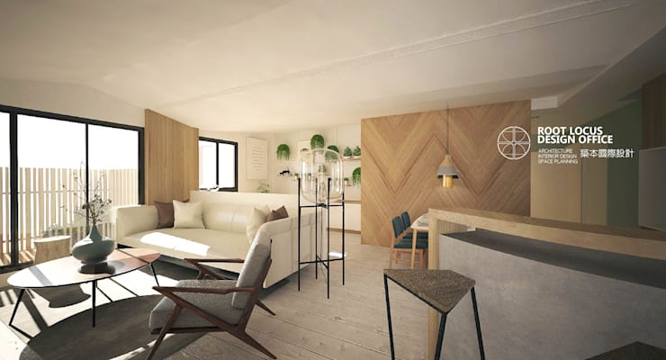 Living room by 築本國際設計有限公司