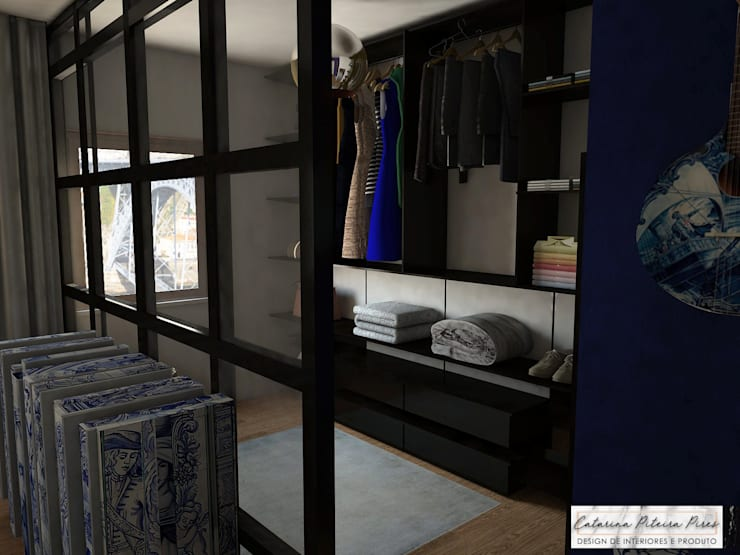 Suite Showroom - Douro Boutique: Closets  por Catarina Piteira Pires - Design de interiores e de produto