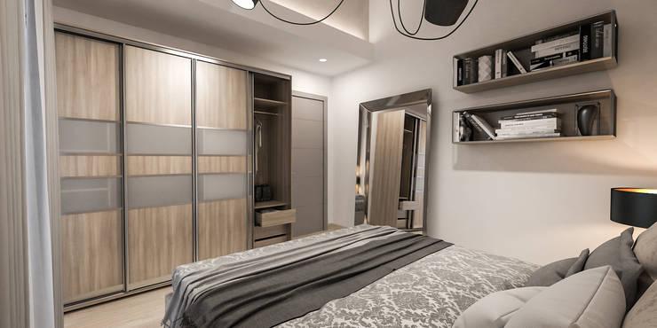 camera ospiti: Camera da letto in stile in stile Moderno di studiosagitair