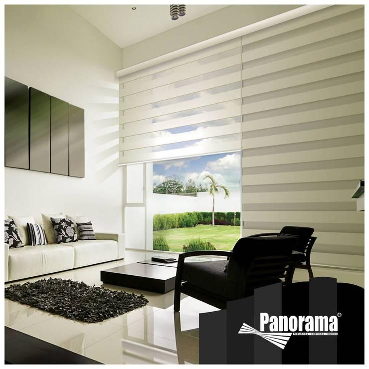cortinas sheer: Oficinas y tiendas de estilo  por diseño+interiorismo