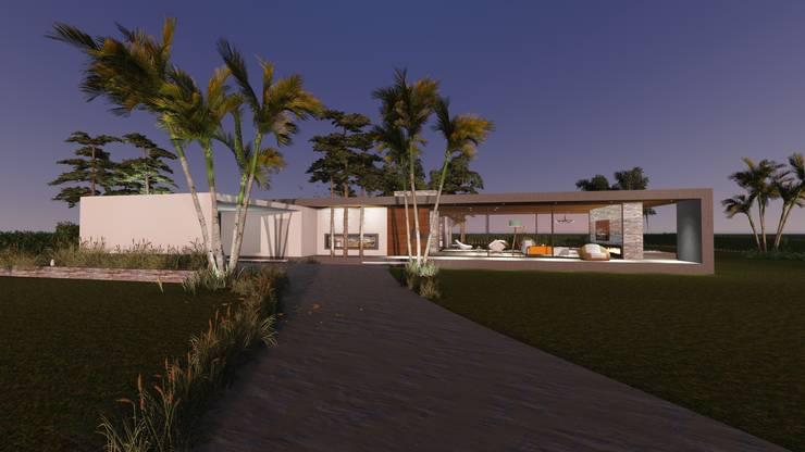 Fachada Frontal : Casas unifamiliares de estilo  por Estudio A+I
