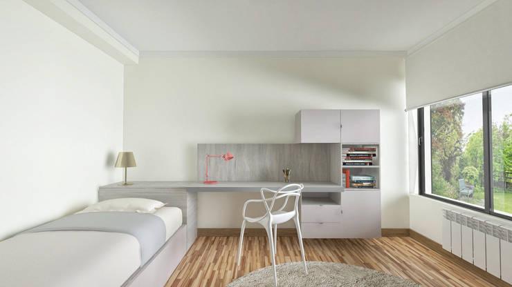 Projecto em 3D: Quartos  por MyStudiohome - Design de Interiores