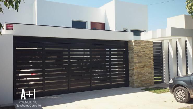 Fachada Vivienda : Casas unifamiliares de estilo  por Estudio A+I,