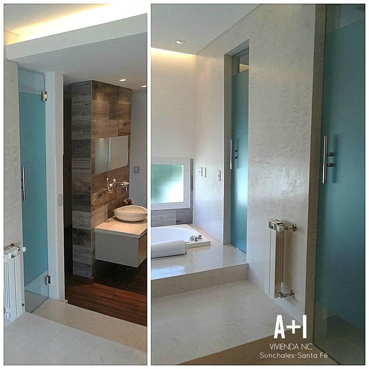 Baño En Suitte: Baños de estilo  por Estudio A+I,