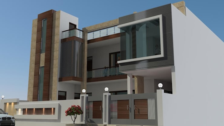 Mr. Sanjay project :  Houses by Incense interior exterior pvt Ltd. ,Modern