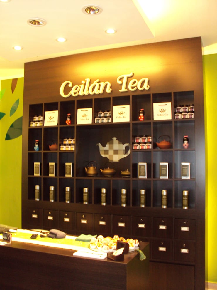 Local Ceilan tea: Gastronomía de estilo  por GMV ESTUDIO,