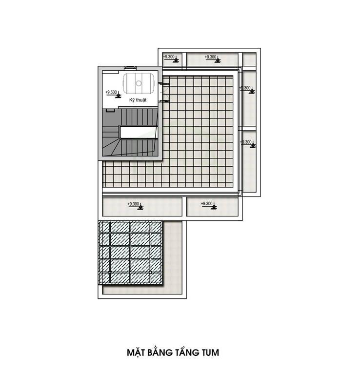 NICE2 Architects:  Nhà gia đình by Kiến trúc NICE2