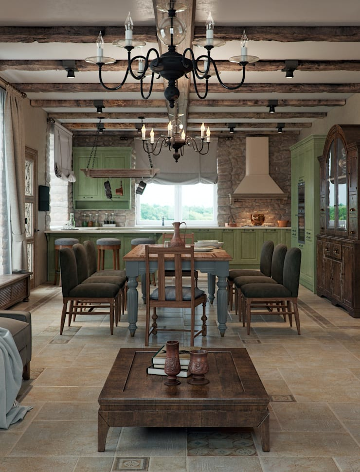 Kitchen by EJ Studio, Mediterranean