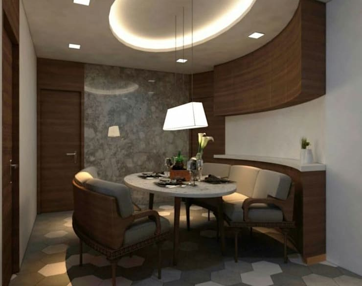 Dr. Deshmukh :  Dining room by New Space Interior