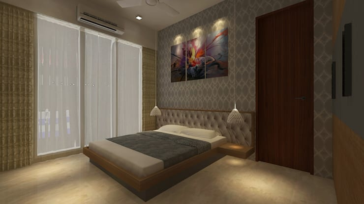 Mr. Anurag chedha: modern Bedroom by New Space Interior