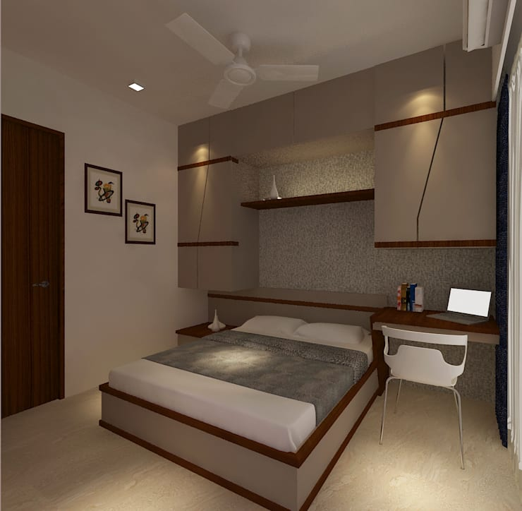 Mr. Anurag chedha:  Bedroom by New Space Interior