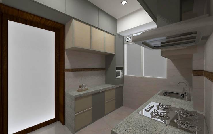 Mr. Anurag chedha:  Kitchen by New Space Interior