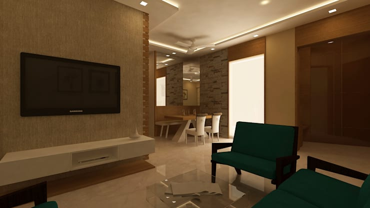 Mr. Anurag chedha:  Living room by New Space Interior