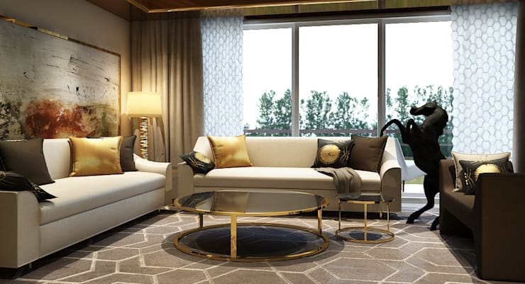 The living room : modern Living room by  Ashleys