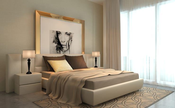 master bedroom : modern Bedroom by  Ashleys