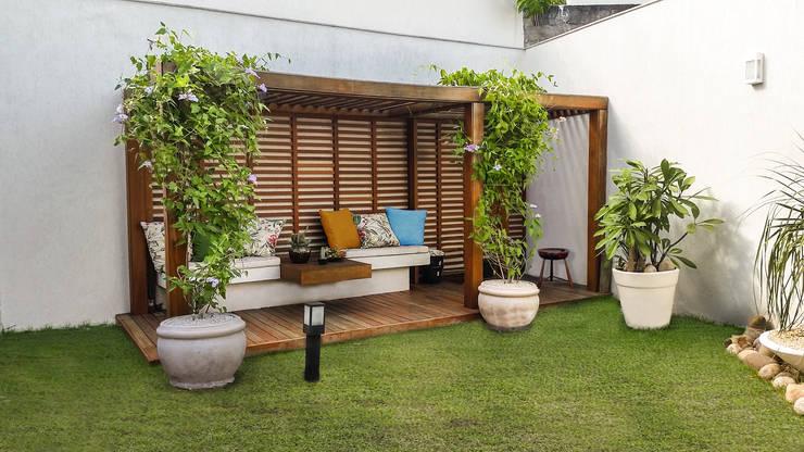 Jardines de invierno de estilo  por Cláudio Maurício e Paulo Henrique